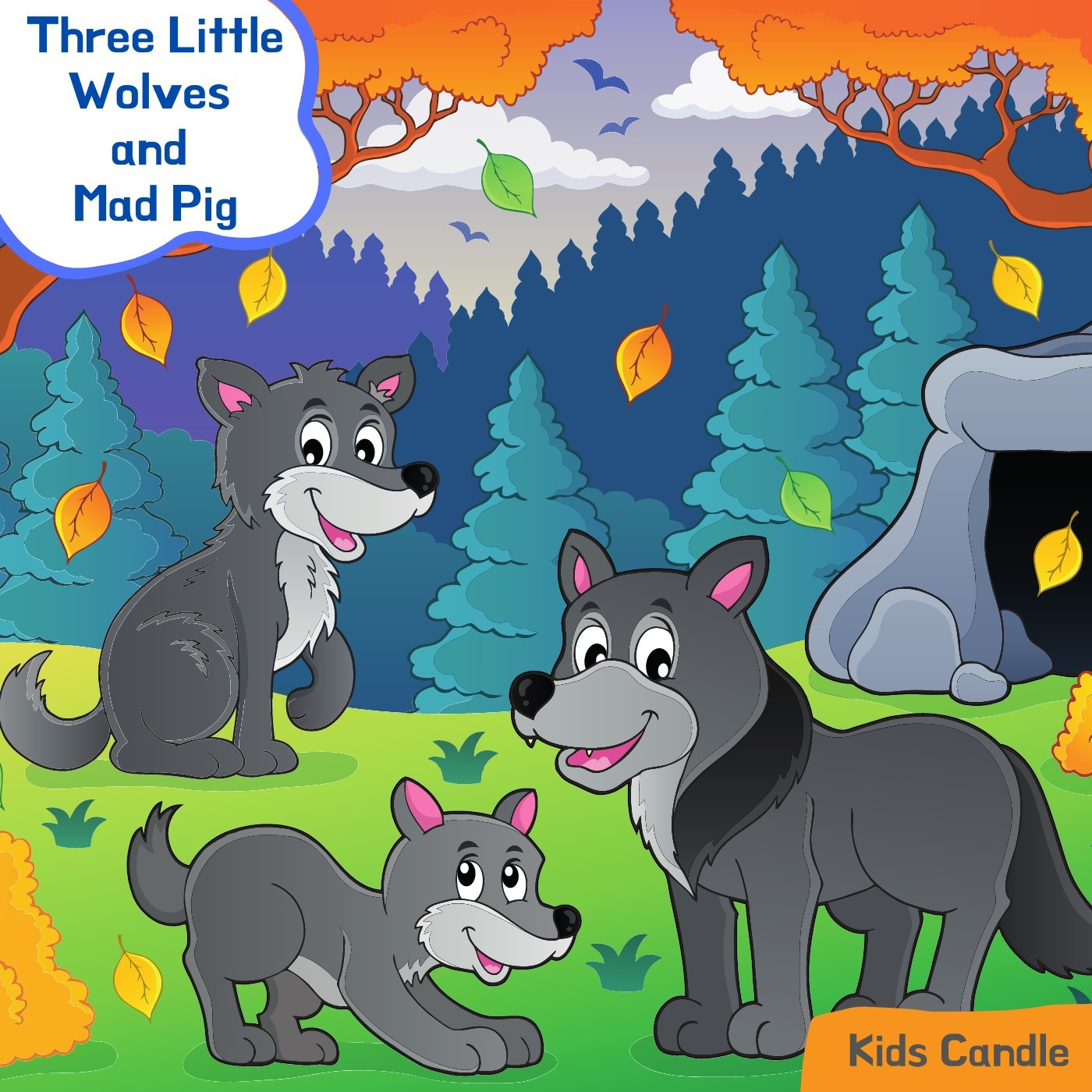 The Three Little Wolves and Mad Pig